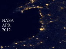 Light Pollution image from NASA April 2012